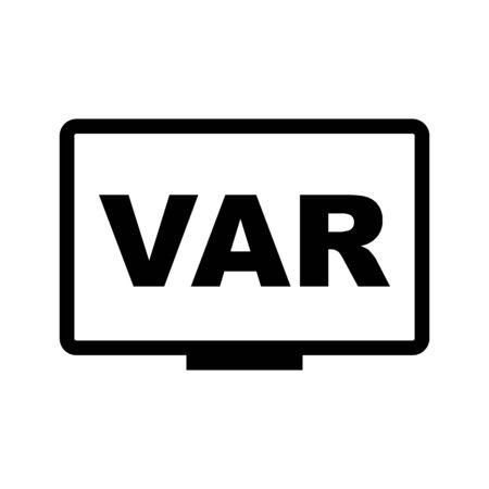 VAR icon symbol simple design. Vector eps10