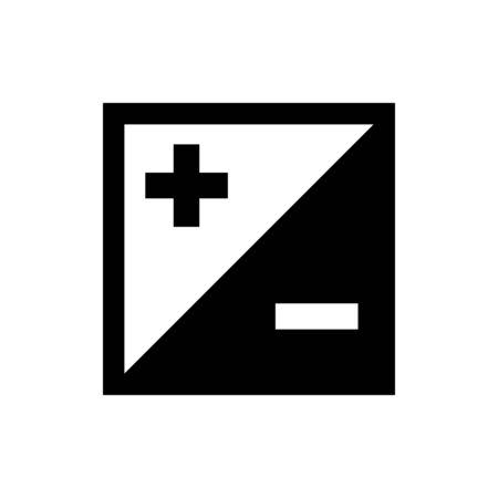 Plus and minus icon. Simple design. Vector Banque d'images - 131952040