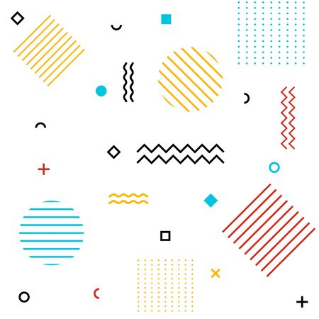 Abstract geometric shapes pattern background. Vector eps10 Illustration