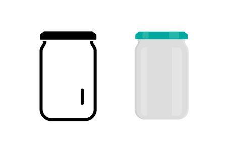 Glass jar icon simple design. Vector eps10 Foto de archivo - 138185185