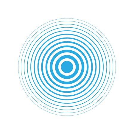 Radar icon blue color simple design. Vector