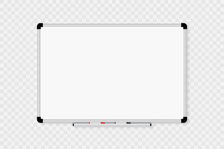 Tableau blanc isolé sur fond transparent. Vecteur eps10