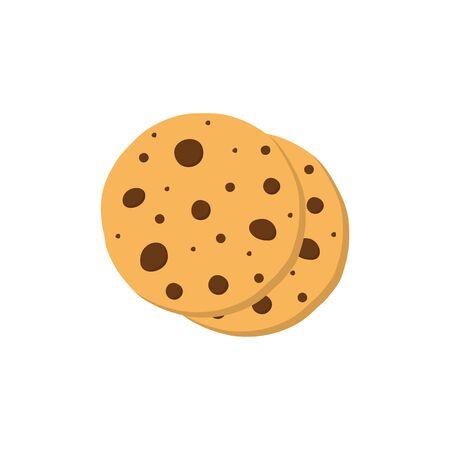 Cookies icon flat style on white background. Vector Ilustração