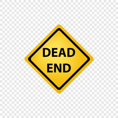 Road sign dead end icon. Vector eps10