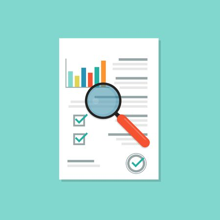 Audit document icon with shadow. Vector eps10