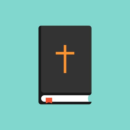 Bible icon flat style. Word of God. Vector