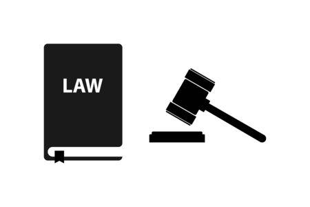 Law icon symbol simple design. Vector eps10