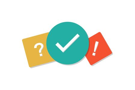 Quiz icon flat style with shadow. Vector