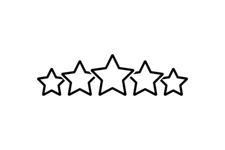 Rating stars icon line style. Vector eps10