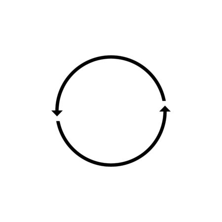 Arrow rotation cycle icon simple design. Vector