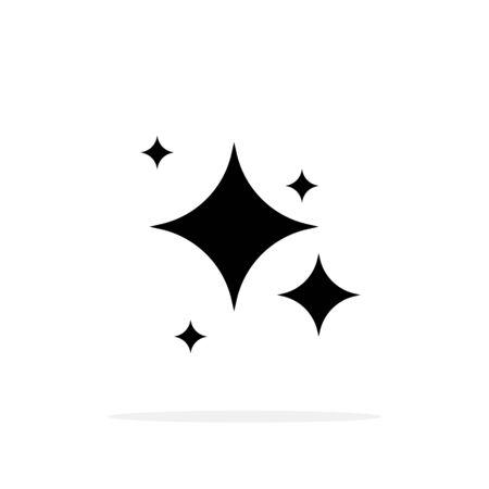 Shine icon symbol with shadow. Vector eps10 Ilustração