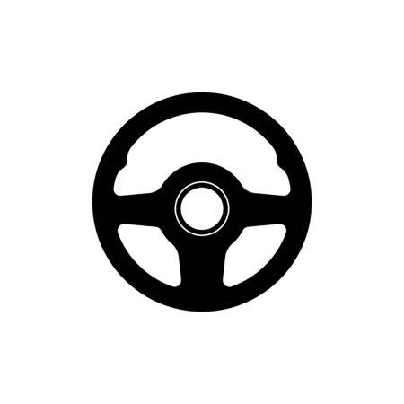 Steering wheel icon simple design. Vector eps10