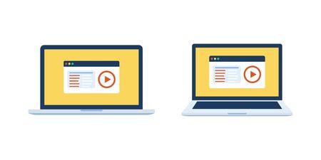 Online education video distance learning. Education concept Ilustração