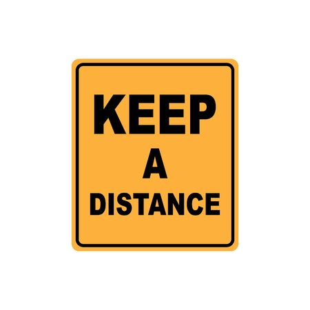 Keep a distance sign icon simple design. Vector