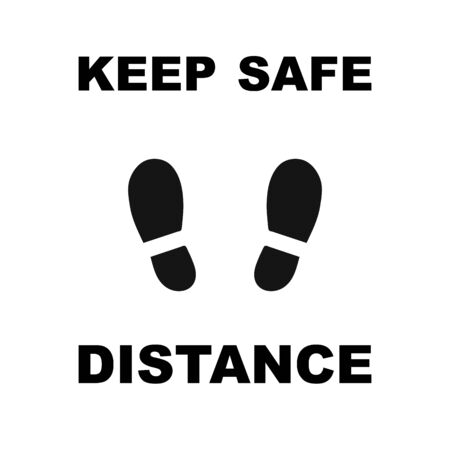 Keep safe distance icon sign. Vector eps10