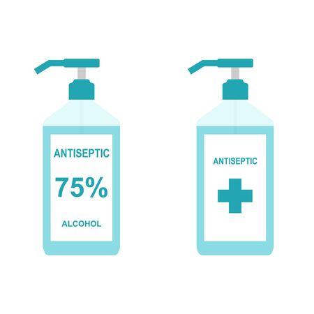 Antiseptic bottle icon flat style. Ilustração