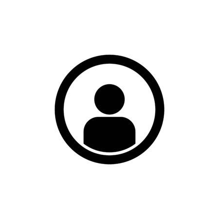 Avatar man icon symbol simple design.