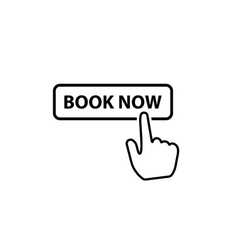 Book now button icon line style