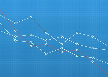 Financial chart graph. Business concept