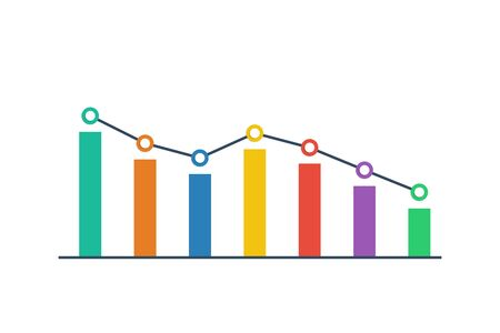 Graph icon flat style. Business concept