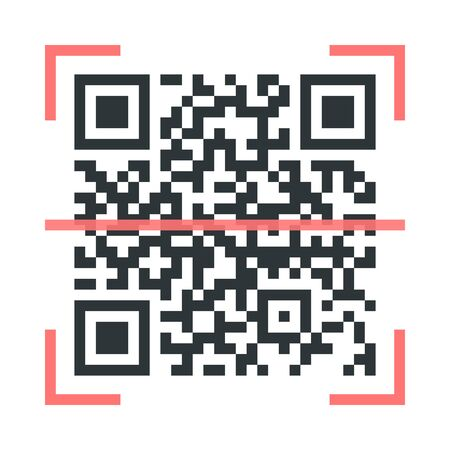 Qr code scanner icon sign simple design