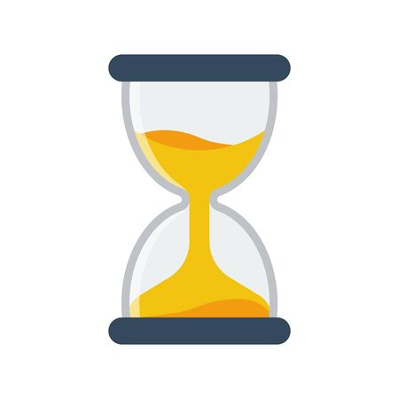 Hourglass icon flat style simple design