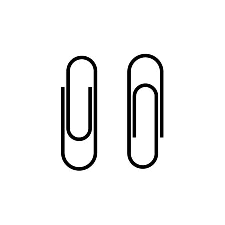 Paperclip set icon symbol simple design Illustration