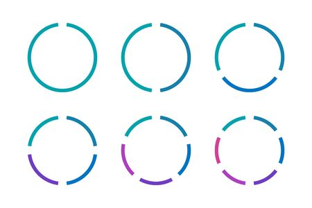 Infographics circles icon set. Business concept Illustration