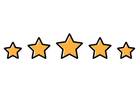 Rating stars flat style icon. Vector eps10