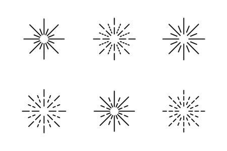 Rays icon symbol set simple design