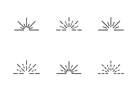 Rays icon symbol set simple design