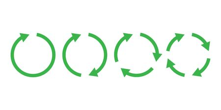 Recycle icon  set simple design