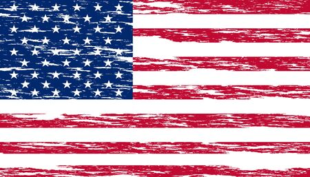 United States national flag with grunge effect
