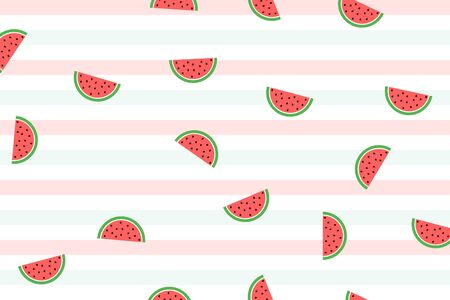 Watermelon background pattern illustration. Vector Vectores