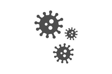 Corona virus icon simple design