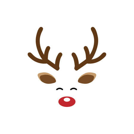 Deer head face icon isolated on white background