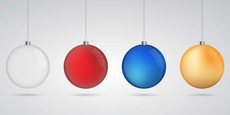Christmas balls set with shadow