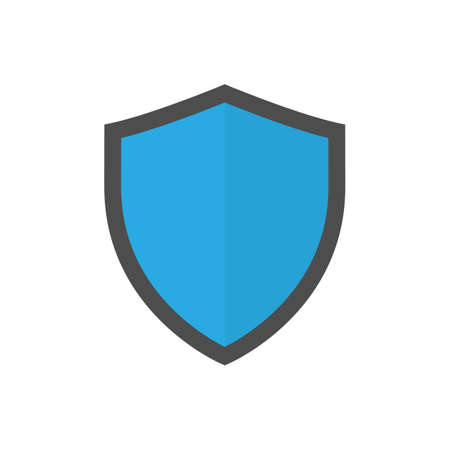 Shield icon symbol flat style Vectores