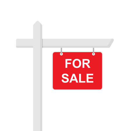 For sale sign icon flat style Illusztráció