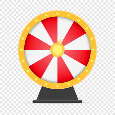 Fortune wheel lucky roulette isolated on white background Vectores