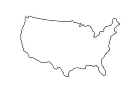 United States map icon line style