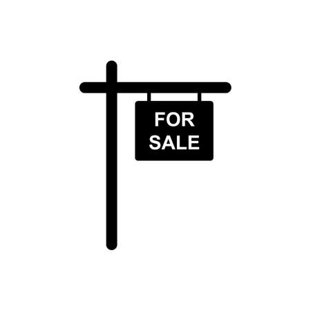 For sale sign icon simple design Illusztráció