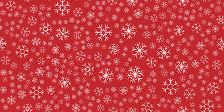 Snowflakes holidays pattern background. Vector