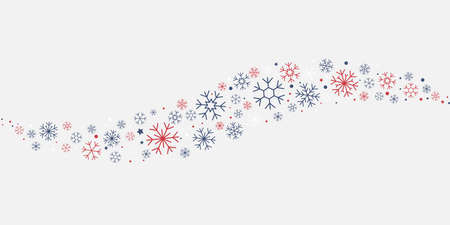 Snowflakes pattern with dotes and stars background Illusztráció