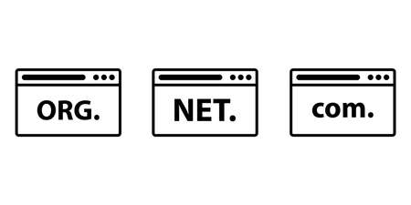 Domain names in browser. Web icon