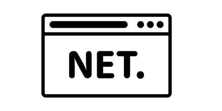 Browser icon with net sign. Web icons