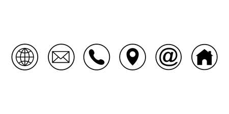 Web icon set. Different internet website icons