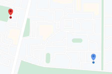 Gps map location with pins
