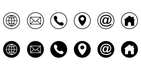 Web icon set. Different internet website icons