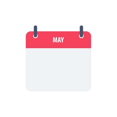 Calendar icon symbol may simple design